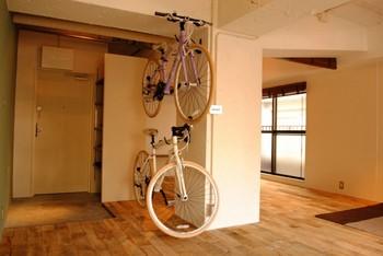 自転車を飾る